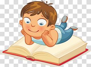 anak laki-laki membaca ilustrasi buku, Membaca Buku Gambar Anak, Membaca anak-anak png