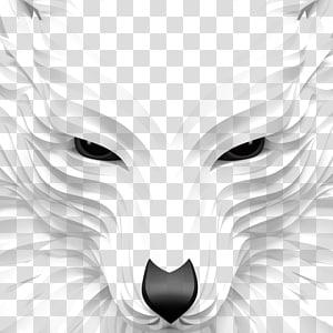 Seni digital Desain grafis, Serigala Putih, ilustrasi serigala png