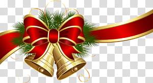 Natal, Lonceng Natal dengan Red Bow, pita dan lonceng merah png