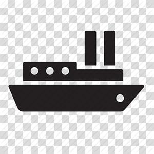 ilustrasi perangkat hitam, Kapal pesiar, Ikon Komputer, Transportasi maritim, Ikon Pengiriman Gratis Berkualitas Tinggi png