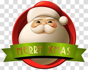 Ilustrasi Santa Claus, dekorasi Natal Santa Claus, Santa Merry Xmas Decoration png