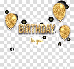 Ikon Balon Ulang Tahun, balon perayaan ulang tahun emas, Selamat Ulang Tahun Kepada Anda Dari Kita Semua png