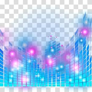 Pencahayaan panggung, efek cahaya panggung dinamis, musik biru dan merah muda png