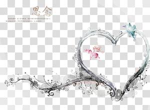bingkai, bingkai pernikahan Miss berbentuk hati, dua burung di dekat bunga jantung png