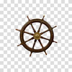 roda kapal coklat, roda Kapal Roda kemudi, roda kemudi png