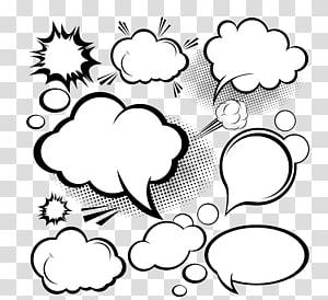 Balon ucapan Cloud Euclidean, dialog komik awan Dialog, obrolan awan PNG clipart