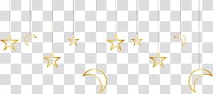 bulan sabit kuning dan dekorasi bintang, Bahan Pola Putih, ornamen dicat bintang emas dan bulan png