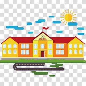 Kelas Kartun Sekolah, bahan bangunan sekolah, ilustrasi sekolah png