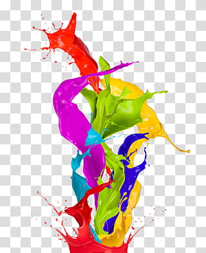 Warna Cat Seni abstrak, Warna percikan, lukisan abstrak png