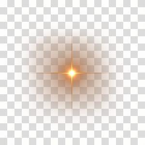 Kemanjuran Luminous Cahaya Halo Lens suar, suar lensa HD, lampu kuning png