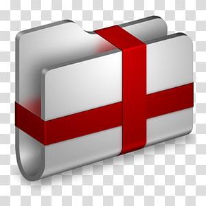 logo file komputer, merek persegi panjang merah, Paket Folder Logam png