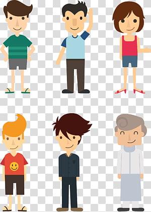 Desain Kartun Flat Ilustrasi, ilustrasi People 3.rar, ilustrasi karakter manusia png