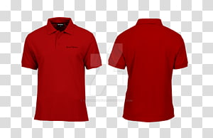 ilustrasi kolase kemeja polo merah, T-shirt lengan panjang Polo shirt T-shirt lengan panjang, kemeja png