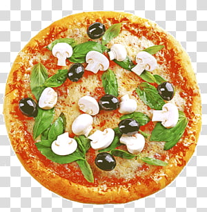 pizza dengan sayuran dan topping jamur, pizza Sisilia pizza gaya California Pizza Margherita Masakan vegetarian, Pizza png