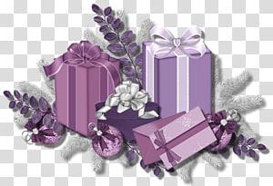 hadiah ungu, Hadiah Ungu Santa Claus, Hadiah Merah Muda dan Ungu png