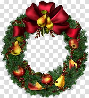 ilustrasi karangan bunga Natal hijau, Natal, Karangan Bunga Natal png