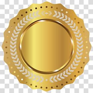 Sutradara film Horor YouTube Trailer, Gold Seal Badge, karya seni pelat emas bundar PNG clipart