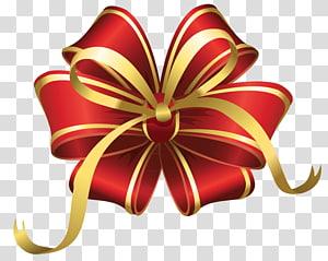 Hadiah Natal, Busur Dekorasi Natal Merah, ilustrasi pita png