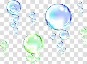 ilustrasi bobbles hijau dan biru, Drop Bubble Water, Water Bubble png