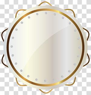 karya seni plat putih dan coklat bundar, Logo Situs Lulur Desain SCRAP PDX, White and Gold Seal PNG clipart