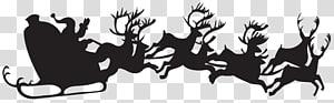 Ilustrasi stensil Santa Claus, Siluet Natal Santa Claus, Siluet Natal Santa Claus dengan Giring png