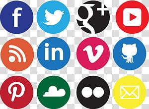 Media sosial Jejaring sosial Ikon desain Ikon, Latar Belakang Ikon Sosial, logo situs web png