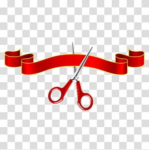 pita merah dan gunting, upacara Pembukaan Pita Gunting, pemotongan pita png