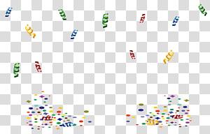 Pesta Ulang Tahun, Dekorasi Pesta Ulang Tahun, ilustrasi confetti warna-warni png