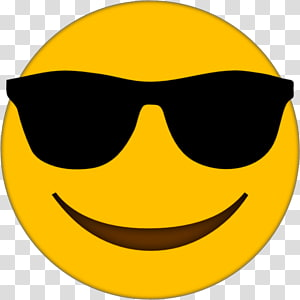 Ilustrasi emoticon tersenyum, Kacamata Emoji, Kacamata Emoji PNG clipart