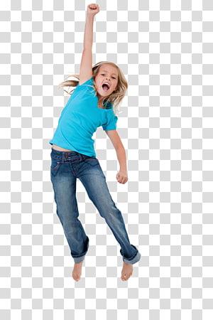 Child Girl Jumping Mainkan Wanita, Anak-anak menari, gadis lompat dan angkat tangannya PNG clipart