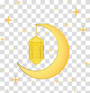 Ramadhan, Lantern Moon, setengah bulan dengan ilustrasi bintang PNG clipart