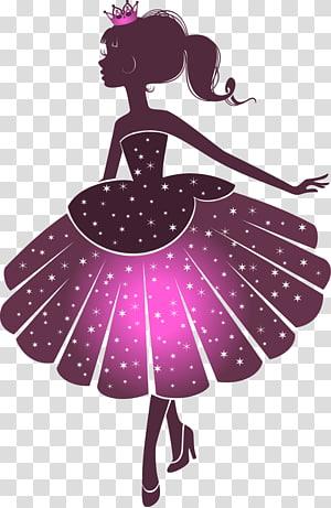 ilustrasi putri, Putri Siluet, Putri Kartun png