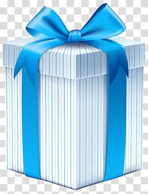 kotak hadiah biru dan putih, Pita Kotak Hadiah, Kotak Hadiah dengan Blue Bow png