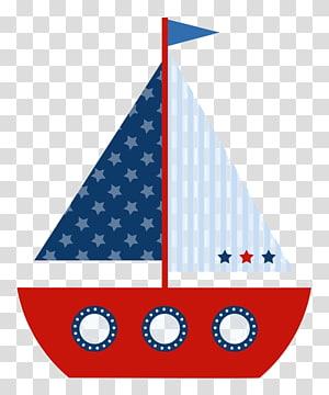 ilustrasi perahu layar biru dan merah, Undangan pernikahan Baby shower Ahoy Boy, Perahu layar kartun png