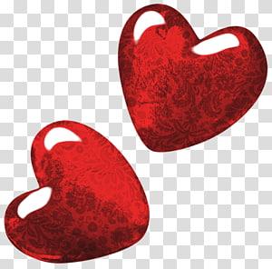 ilustrasi dua hati merah, Stiker Farmerama, Hati Seni Merah png