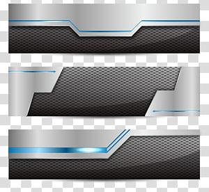 kolase perangkat elektronik hitam dan abu-abu, spanduk Web Ikon Teknologi Euclidean, spanduk logam png