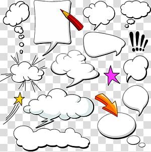 Komik Balon Pidato Cloud, Dialog Comics Collection, ilustrasi majalah meme png