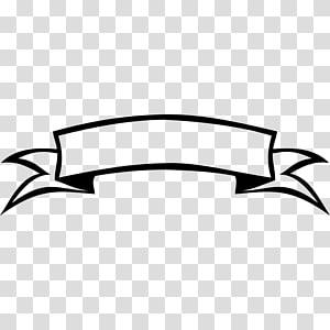 pita spanduk hitam dan putih, spanduk pita PNG clipart