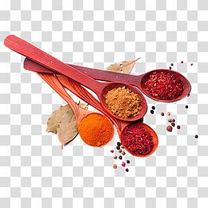 berbagai macam rempah-rempah di sendok, masakan India Selatan Spice Herb, Sendok penuh dengan rempah-rempah png
