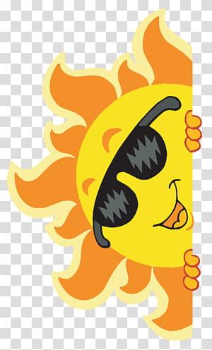 ilustrasi matahari, ilustrasi kacamata hitam, kartun matahari PNG clipart