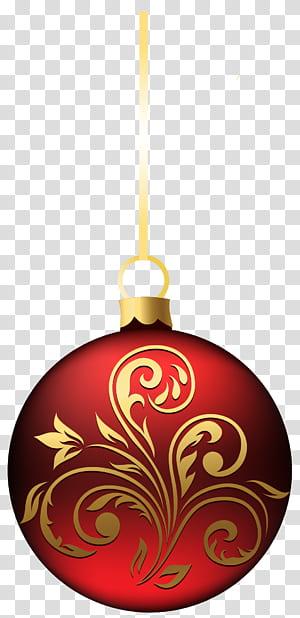 Ornamen Natal, Dekorasi Natal, Hiasan Bola Natal Besar BlueRed, lampu gantung merah dan coklat PNG clipart