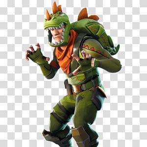 pria yang memakai ilustrasi kostum dinosaurus, video game Fortnite Battle Royale PlayStation 4, yang lain png