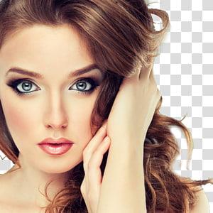 Kosmetik Makeup brush Yayasan Kecantikan, model Makeup di Eropa, close-up wajah wanita PNG clipart