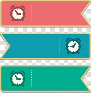 tiga ilustrasi tag jam, Adobe Illustrator, kotak teks Judul png