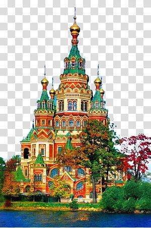 benteng hijau, kuning, dan krem, Russia Castle Palace Chxe2teau, Russia Castle png