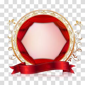 Newcastle Red, Perbatasan Valentine Pernikahan Kreatif, bingkai merah dan emas png