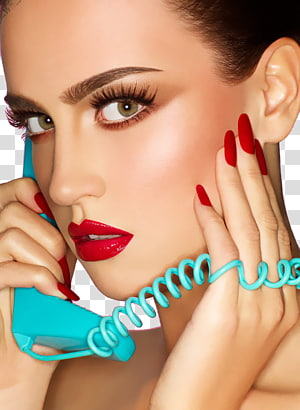 wanita memegang telepon teal, Kosmetik Make-up artist Beauty Eye shadow Eyelash, Fashion makeup closeup wajah perempuan PNG clipart