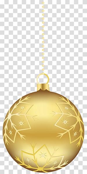 Ornamen Natal, Ornamen Bola Natal Emas Besar, ilustrasi perhiasan Natal emas png