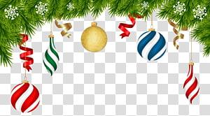 Dekorasi Natal, Ornamen Natal, Ornamen Deco Natal, karangan bunga hijau dengan ornamen png