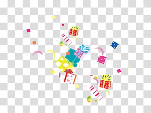 ilustrasi kotak hadiah jatuh, Hadiah Gratis, latar belakang Hadiah, hadiah, bahan Taobao png